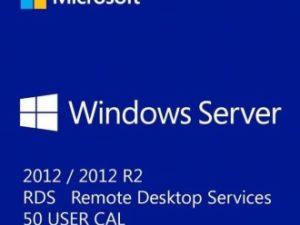 WINDOWS SERVER 2012 / 2012 R2 REMOTE DESKTOP SERVICES – 50 USER CAL