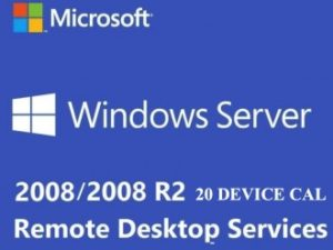 WINDOWS SERVER 2008 / 2008 R2 REMOTE DESKTOP SERVICES – 20 DEVICE CAL