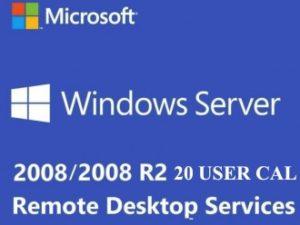 WINDOWS SERVER 2008 / 2008 R2 REMOTE DESKTOP SERVICES – 20 USER CAL