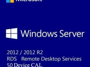 WINDOWS SERVER 2012 / 2012 R2 REMOTE DESKTOP SERVICES – 50 DEVICE CAL